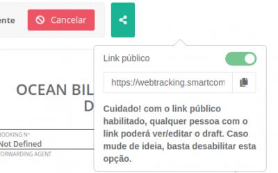 Novidades no SmartComex – Preenchimento público de Draft